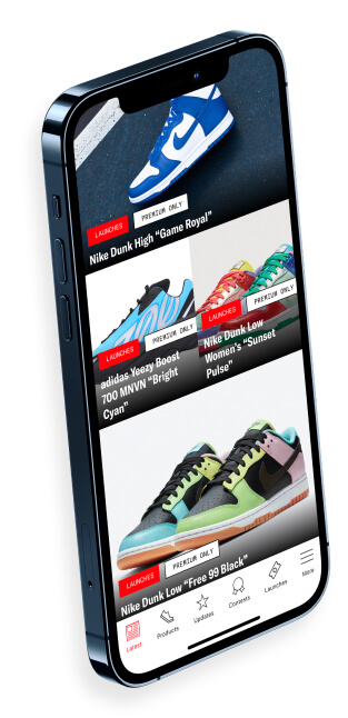 An iPhone 12 showcasing the SoleSavy mobile app