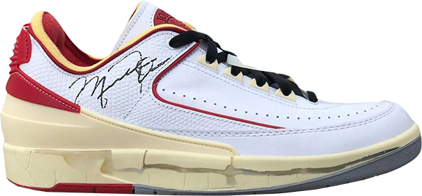 Off-White x Air Jordan 2 Low 'White/Red'